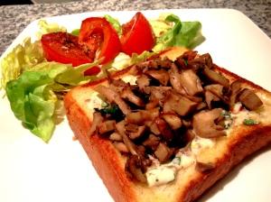 Blue Apron Mixed Mushroom Toasts
